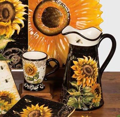 French Sunflowers Pitcher By Certified International