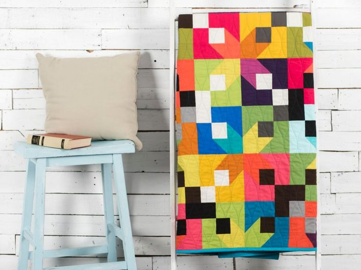 Modern Brights Corner Lot Quilt Kit