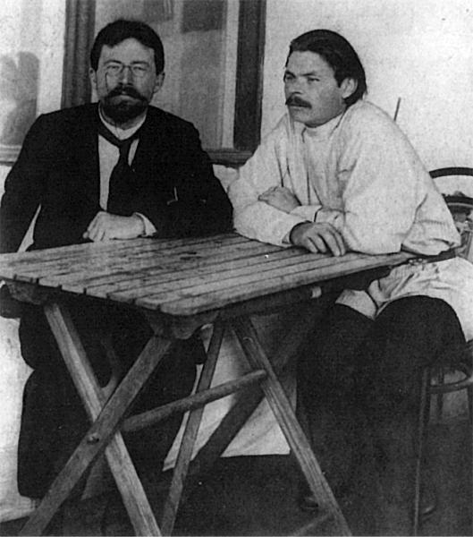 Максим Горький. Горький и Чехов в Ялте в 1900 году.