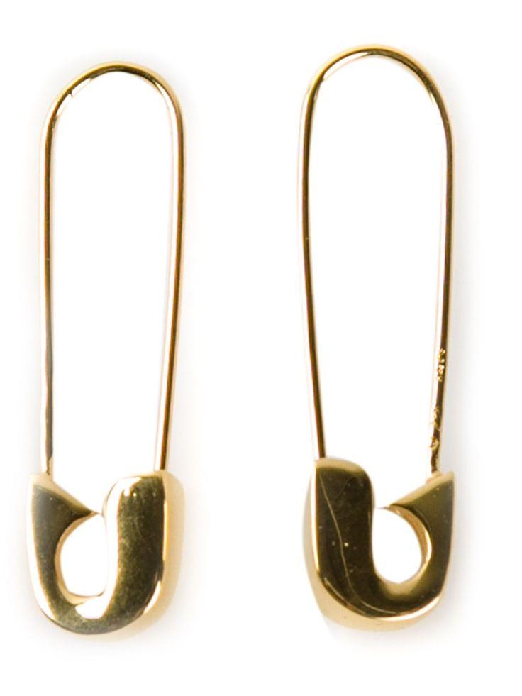 Lauren Klassen Safety Pin Earrings - Patron Of The New - Farfetch.com