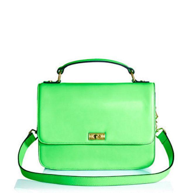 Bolsa verde neon | Acessórios neon perfeitos para o verão