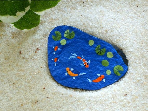 17 best images about rock art on pinterest stone art for Koi fish pond rocks