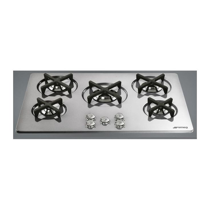 SMEG GAS HOB P755X1 STAINLESS STEEL SILVER DETAILS MARC NEWSON LINE...