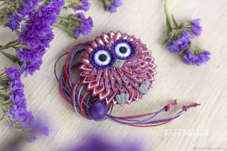 Купить Кулон Сова фиолетовый в интернет магазине на Ярмарке Мастеров