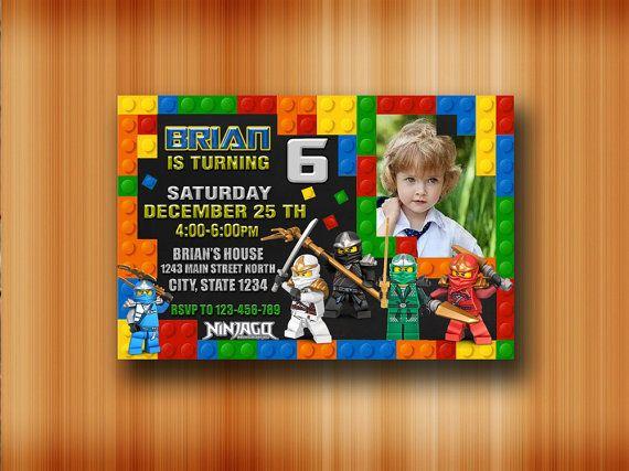 LEGO Ninjago Einladung / Lego Ninjago Geburtstag von SABARINGADERI