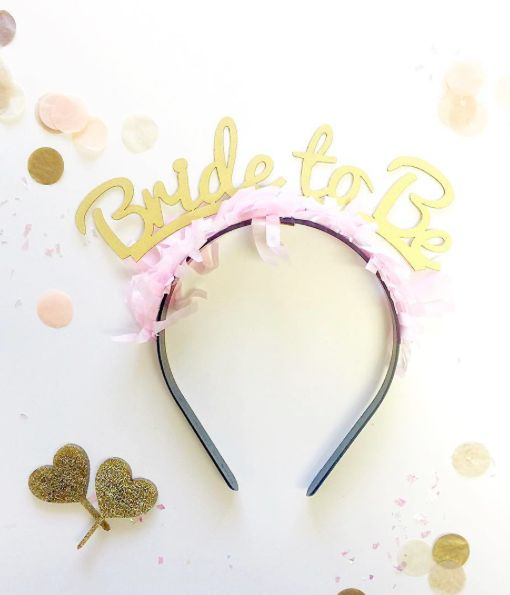 This super cute bride to be headband is back! The perfect accessory for a…