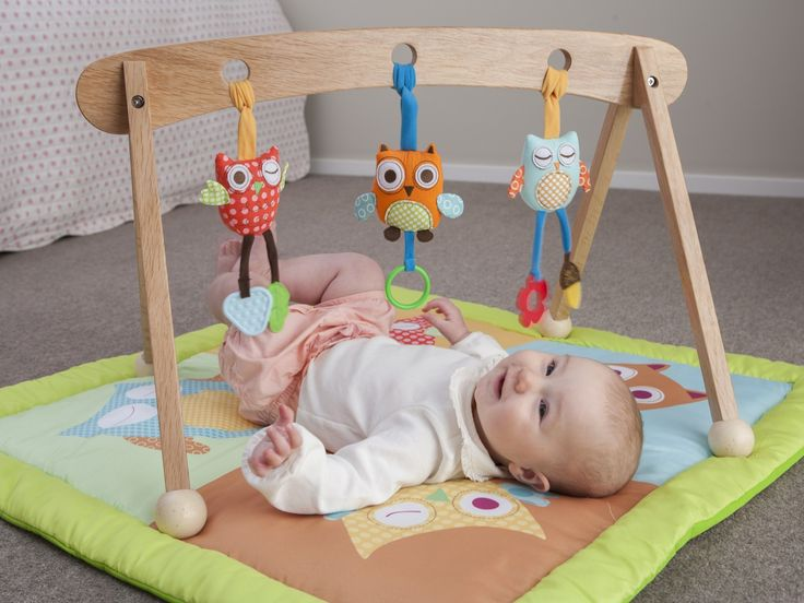 Mocka Wooden Playgym with Playmat