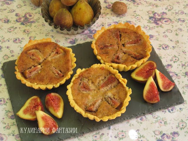 Tartalettes with figs and walnuts