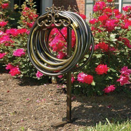 Amazon.com: Liberty Garden Decorative Mediterranean Hose Butler Stand: Patio, Lawn & Garden