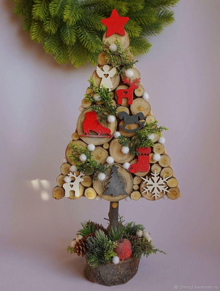 Новогодние елочки в эко стиле – купить в интернет-магазине на Ярмарке Мастеров с доставкой