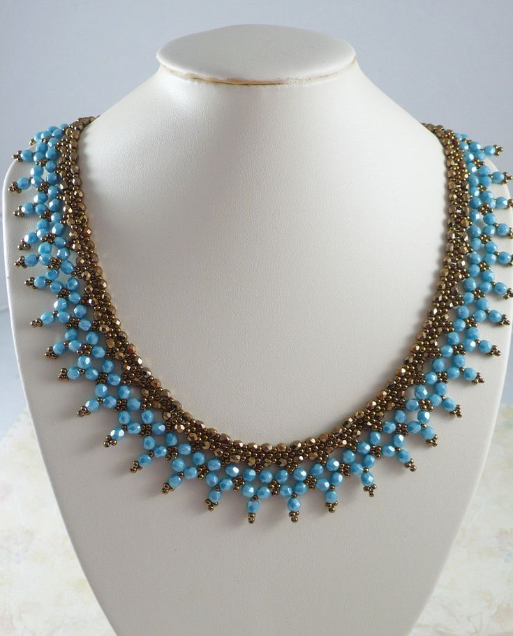 Woven Necklace in Turquoise and Bronze by IndulgedGirl on Etsy https://www.etsy.com/listing/89813859/woven-necklace-in-turquoise-and-bronze