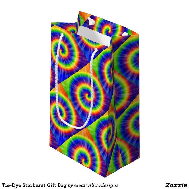 Tie-Dye Starburst Gift Bag Small Gift Bag