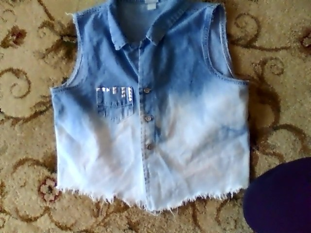 bought this vest for 3 dollars at a thrift store, then ombred, fringed and studded it myself. =)Thrift Stores