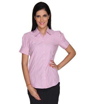 Bombay High Pink Cotton Blend Shirt