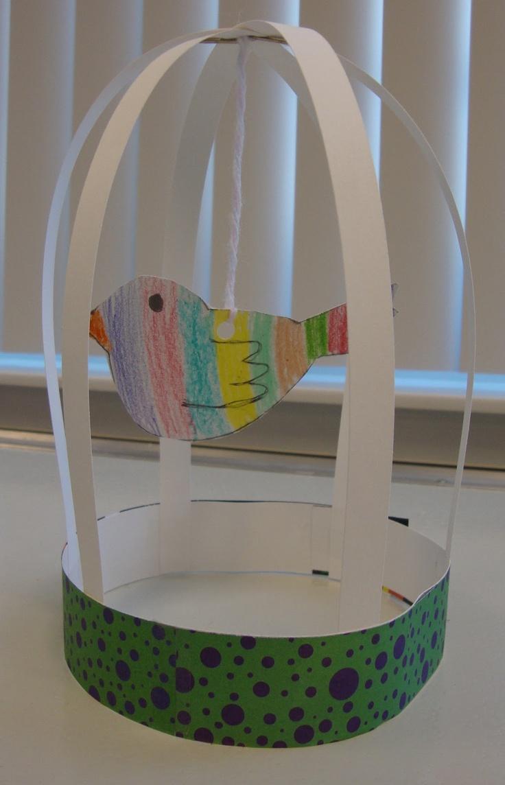 Art. Paper. Scissors. Glue!: Bird Cage Sculptures
