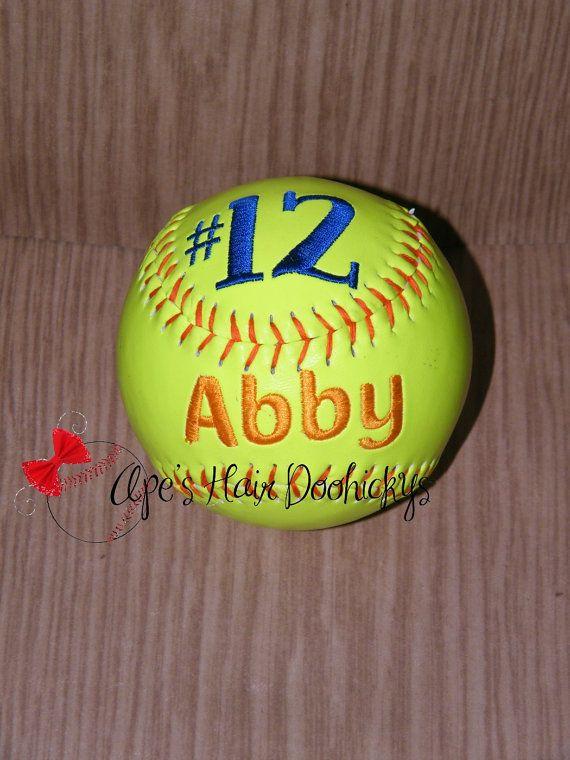 Custom Embroidered Softball Gift Player