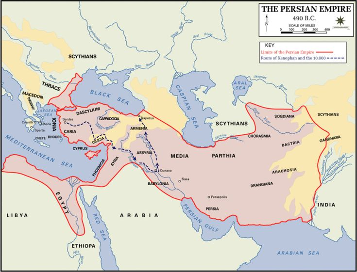 Near East Maps Persian Empire Map