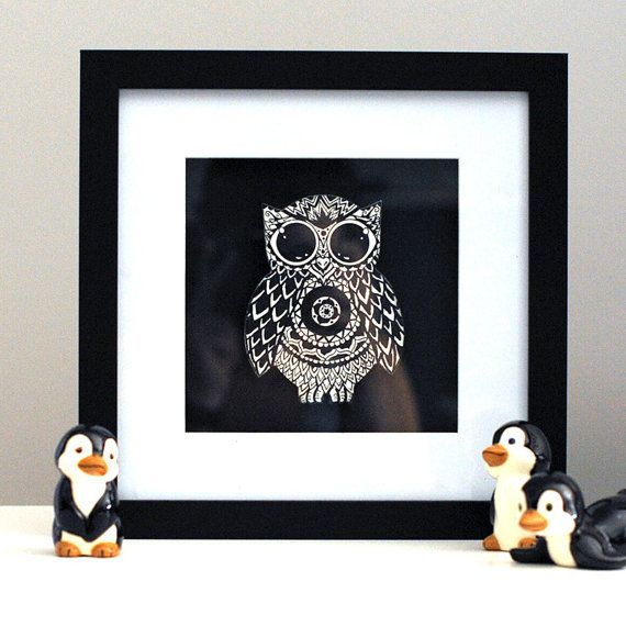 Mandala Owl Baby Shower Gift Child's Gift by SolCreationsArtwork