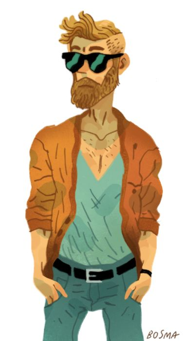 I'm working on a bunch of little characters for a magazine article. I could draw hipsters all goddamn day.