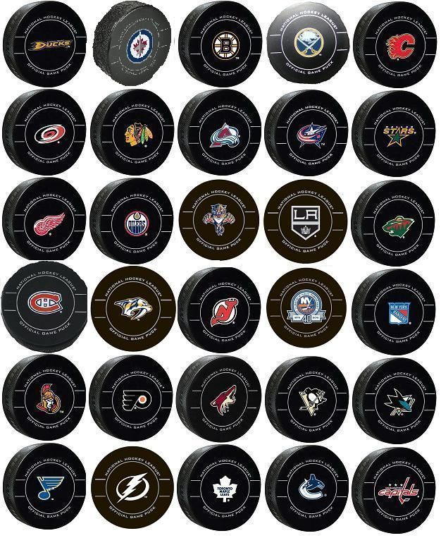NHL Team Pucks