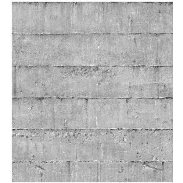 Dot U0026 Bo Concrete Block Full Pattern Wallpaper (u20ac120) ❤ Liked On Polyvore