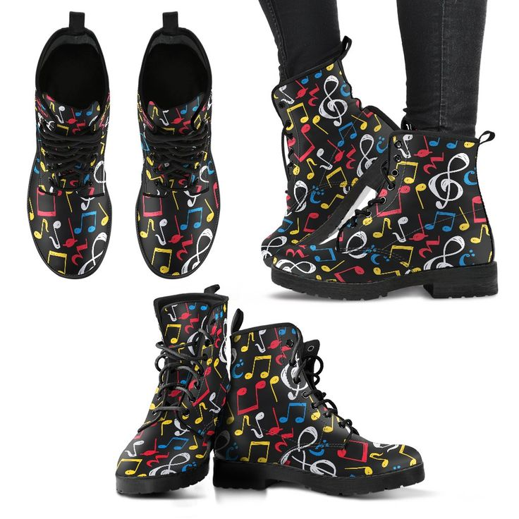 Just launched! Colorful Music Note Mix Shoes. Womens Leather Boots http://oompah.shop/products/colorful-music-note-mix-shoes-womens-leather-boots