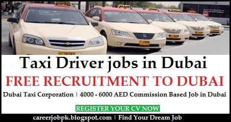 Taxi Driver jobs in Dubai. Dubai Taxi Corporation (RTA) is hiring Taxi Driver on the monthly commission based job in Dubai. An average commission 4000 to 6000 AED in a month.