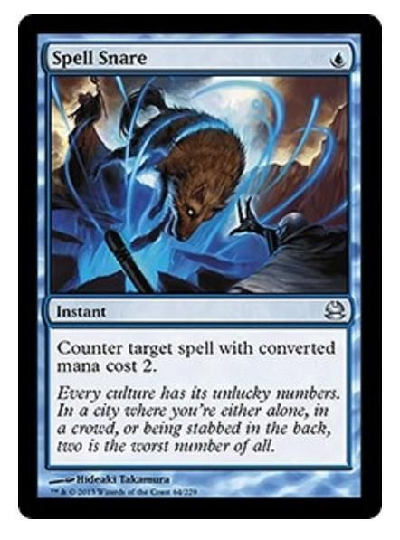 2013 Magic the Gathering Modern Masters - Spell Snare Uncommon TCG Game Card