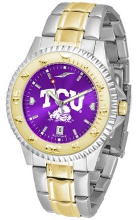 Texas Christian Horned Frogs Competitor AnoChrome Two Tone Watch