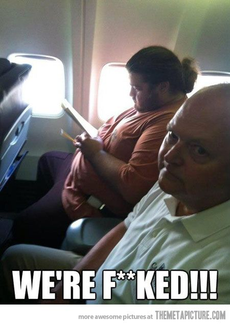 That moment when you see Hurley on your flight… hahah