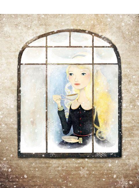 Karácsonyra várva - Print (Digitális), Képzőművészet , Dekoráció, Illusztráció, Kép, Meska