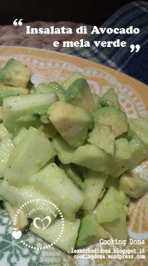 Insalata di avocado e mela verde