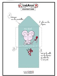 Crée toi-même ta pochette pour ranger ta dent sous l'oreiller en attendant la petite souris !