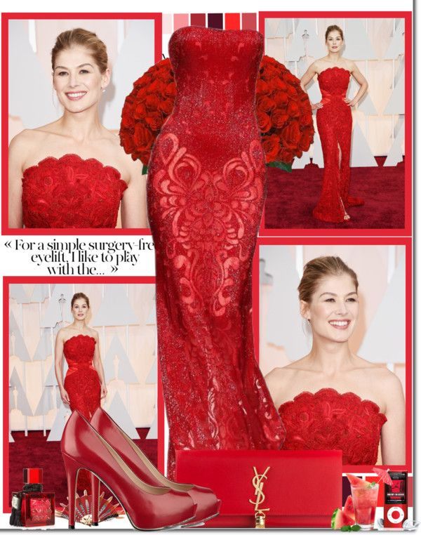 """""""Rosamund Pike at 87th The Oscars"""" by vannesaxolivia ❤ liked on Polyvore"""