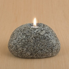 Rock Tealight Candle Holder    $30.00