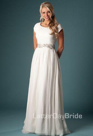 Modest Wedding Dress, Alvarito | LatterDayBride & Prom