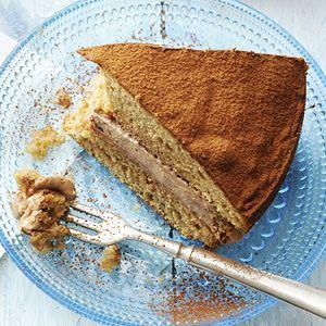 Recept - Cappuccino spongecake met chocomousse - Allerhande