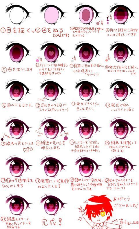 Ojos anime paso a paso ^^