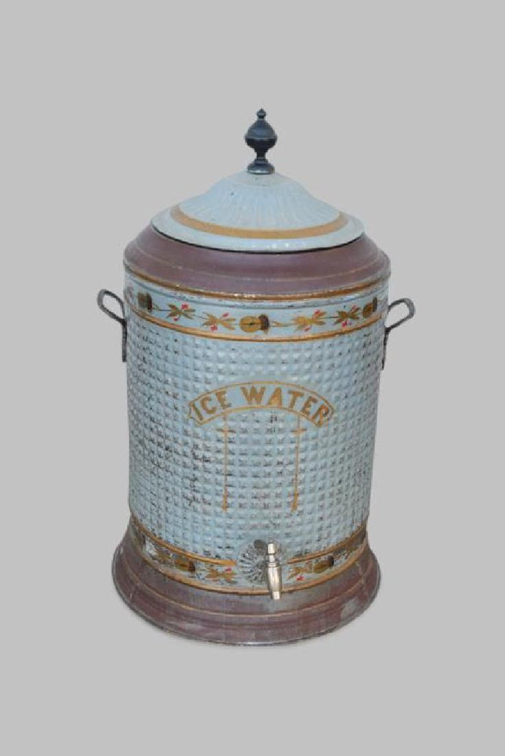 Early Tole Painted Ice Water Cooler