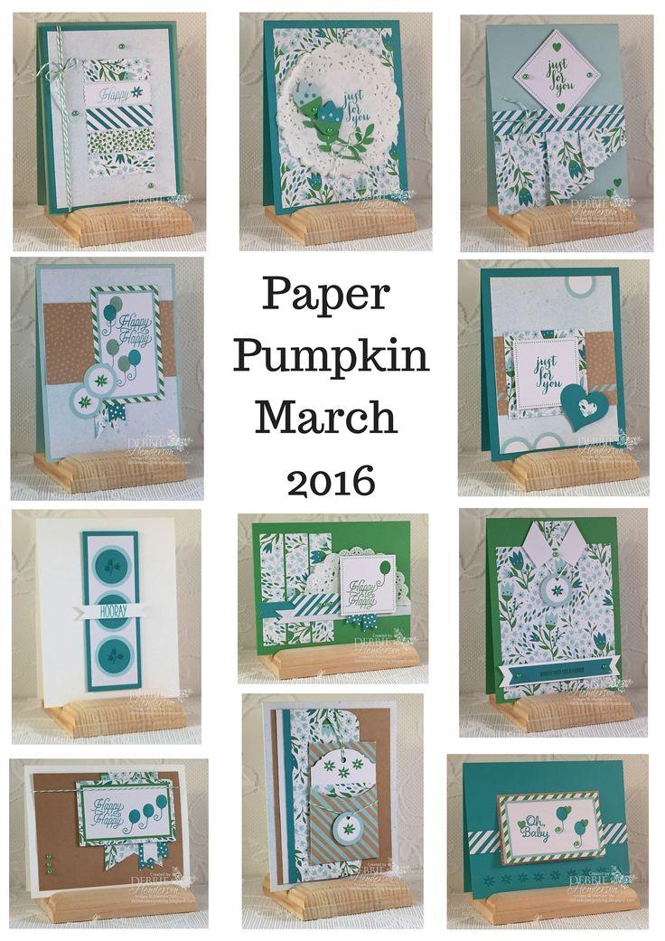 Paper Pumpkin March 2016 Alternative Projects. Debbie Henderson, Debbie's Designs.