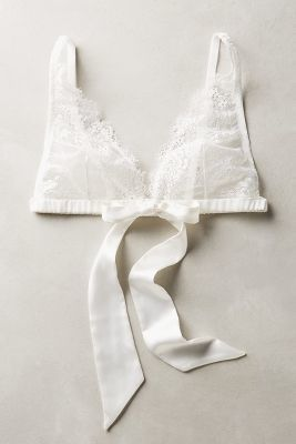 Samantha Chang Ribboned Lace Bralette #anthrofave