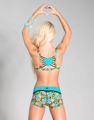 Sadie Jane Dancewear - Opposites Attract Basis Cami Top Black Floral/Teal Dot, $38.00 (http://www.sadiejane.com/opposites-attract-basis-cami-top-black-floral-teal-dot/)