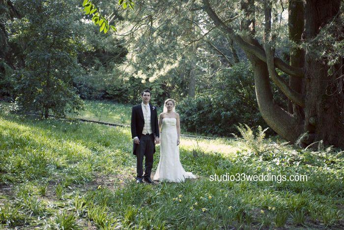 Couple shot #Trudder Lodge Co. Wicklow.  Lush green woodland  shot  by www.studio33weddings.com