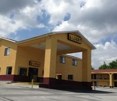 Super 8 Motel - Centrally located to High Falls State Park, Atlanta Motor Speedway and Tanger Outlet Center. Free Super Start Breakfast, Free Wireless High Speed Internet in all rooms. Pets Accepted. Barber/Beauty shop, shopping and outlets nearby. Toll free:(800) 800-8000