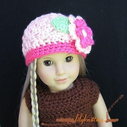 Knitting Pattern For Dolls Beanie : 1000+ images about DOLL CROCHET & KNIT on Pinterest American girl croch...