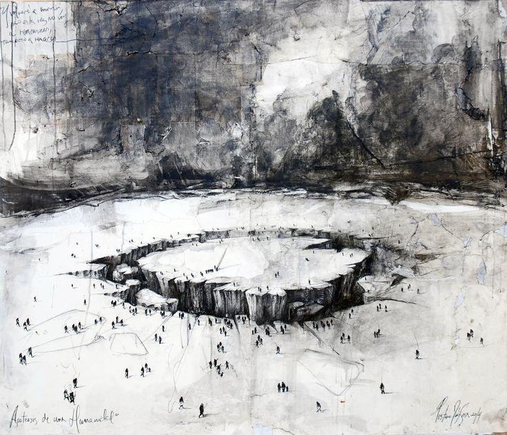 Apoteosis de una Humanidad / 120 x 140 cm / mixta sobre lino / 2015