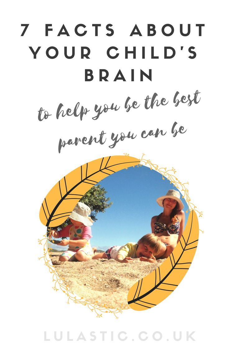 there's just parents who understand how the brain works, and those that don't.