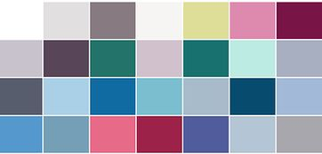 Colour Palette of Cool or True Summer
