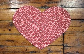 Red and white heart rug  Available on http://www.waringsathome.co.uk/for-the-home/rugs.html?limit=all