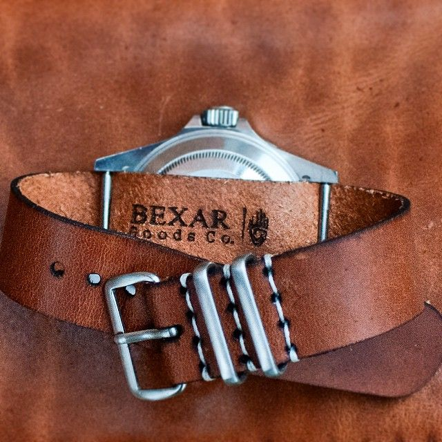 It's all in the details… New leather NATO watch straps available at www.bexargoods.com